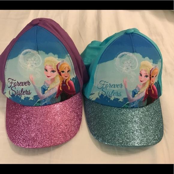 Frozen Sun Hat Sisters Forever Anna Elsa sun hat.